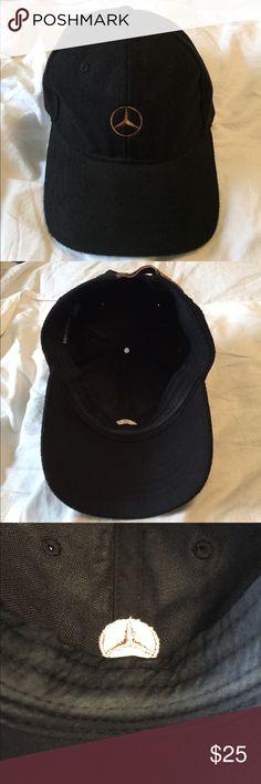 4919f428024 Merecedes Benz Hat Black baseball hat with copper MERCEDES star logo