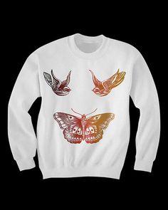 Harry Styles Tattoos Sweatshirt on Etsy, $35.00