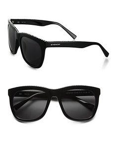 Givenchy - Swarovski Crystal Studded Square Sunglasses