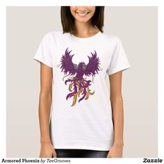Shop Armored Phoenix T-Shirt created by TeeGrooves. Cheap Fashion, Fashion Outfits, Black Armor, Cheap Gifts, Wardrobe Staples, Shirt Style, Phoenix, Your Style, Shop Now