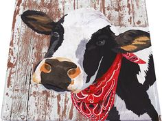 A cute black and white cow on a decorative paper napkin. Use for all your decoupage projects. Buy your decoupage supplies at Decoupage Designs USA Cow Paintings On Canvas, Animal Paintings, Venus Painting, Cow Craft, Cow Pictures, Cow Decor, Farm Art, Cute Cows, Diy Canvas Art