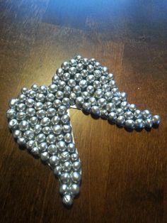 DIY silver angels wing
