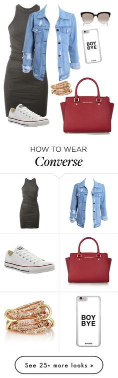 """Converse x Dress"" by trillparadise on Polyvore featuring DRKSHDW, MICHAEL Michael Kors, Converse, Christian Dior and SPINELLI KILCOLLIN"