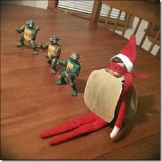 Elf on the Shelf....Heroes in the half shell - Turtle Power!!