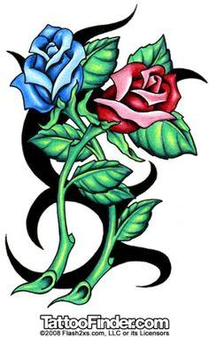 Tatoo Rose, Tribal Rose Tattoos, Blue Rose Tattoos, Geometric Tattoo Arm, Flower Tattoos, Blue Rose Tattoo Meaning, Great Tattoos, Body Art Tattoos, Race Car Coloring Pages