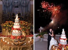 Melanie Malave and Shane Wernersbach at the Palace in Somerset • Cake: Palace at Somerset Park; Fireworks: Garden State Fireworks, Millington • New Jersey Bride Real Weddings