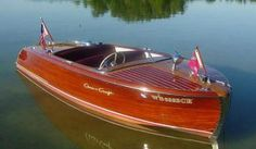 Learn how to build a wooden boat and more at Rocky Mountain Boat School Old Boats, Small Boats, Chris Craft Wooden Boats, Wooden Speed Boats, Stone Cabin, Runabout Boat, Classic Wooden Boats, Boat Fashion, Vintage Boats