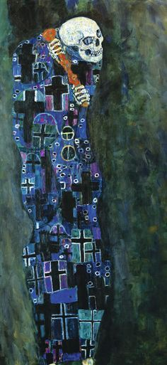 Gustav Klimt ca 1910 'Death and Life'