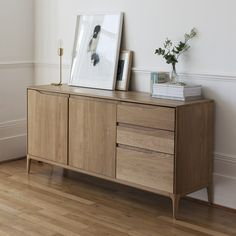 The Romana Large Sideboard is part of the Romana Collection, a collective of oak tables and sideboards. http://www.yliving.com/blog/introduction-ercol-furniture-making/