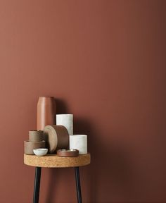 Terracota, marsala, brick: the return is variegated - Wall Colors, Paint Colors, Colours, Color Inspiration, Interior Inspiration, Deco Rose, Deco Design, Marsala, Color Trends