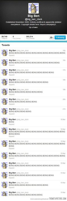 Big Ben on Twitter…This is actually really funny. Why is this so funny??