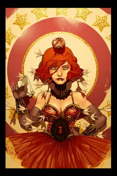 Black Widow cirque art print