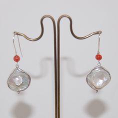 Dangling earrings, Bridalwear, Sterling Silver, Pearl Earrings, Womenswear. by…