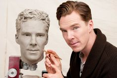 'Sherlock' star Benedict Cumberbatch prepares his wax figure at Madame Tussauds