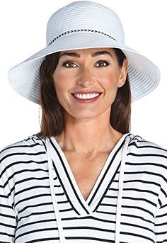 0d858943302 coolibar UPF 50+ Women s Ribbon Bucket Hat – Sun Protective – Caps   Hats  for Everyone