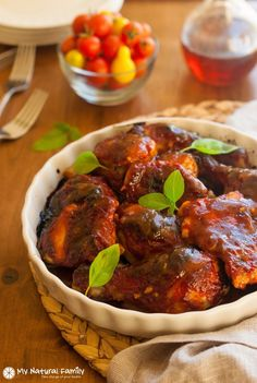Sweet & Sticky BBQ Chicken: Throw the sauce together in five minutes, throw it in the oven and get something done while your healthy, delicious dinner bakes.