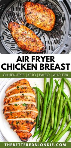 This Air Fryer Chicken Breast is so flavorful, you will love every bite! The balsamic marinade is easy to make and helps keep the chicken so juicy. Healthy Chicken Recipes, Meat Recipes, Paleo Recipes, Easy Whole 30 Recipes, Amazing Recipes, Balsamic Marinade, Whole 30 Diet, Air Fryer Recipes, Dairy Free Recipes