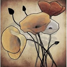 Poppies Shower Curtain by simpleshopping