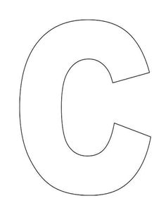 Current image inside letter c printable