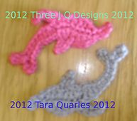 This pattern is for a dolphin shaped applique. The measurement is approximately 9cm or 3 1/2 inches when using a #4 steel hook or a D/3.25mm hook. Gague and yarn choice are not important to get the shape