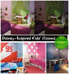 Disney Kids' Rooms with Disney Paint - These rooms are amazing for kids!