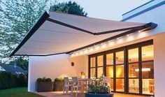 Patio Awnings UK, House and Garden Awning By Eden Verandas Awnings Uk, Outdoor Awnings, Deck Awnings, Pergola Patio, Diy Patio, Backyard Patio, Pergola Kits, Patio Decks, Diy Deck