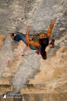 Daila Ojeda, Mind Control (8c+), Oliana. photo by Simon Carter www.onsight.com.au
