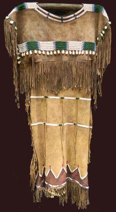 Plains Indian Beaded and Buckskin Native American Dress