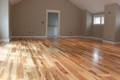 BuildDirect – Unfinished Hickory Flooring – Hickory – Euro Character – Living Room View Source by arizkate