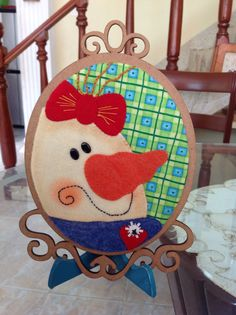 Cuadro Wool Applique, Christmas Signs, Snowmen, Decorative Plates, Kids Rugs, Embroidery, Flowers, Home Decor, Christmas Ornaments
