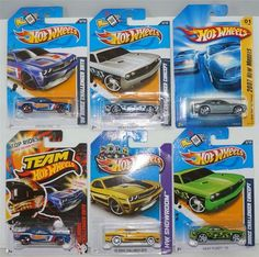 "HOT WHEELS LOT OF 6  DODGE CHALLENGER HARD TO FIND COLLECTIBLES 1) 2007 GREY DODGE CHALLENGER NEW MODELS 2) 2013 YELLOW '08 DODGE CHALLENGER SRT8 HW SHOWROOM 3) 2012 GREEN W/ FLAMES DODGE CHALLENGER CONCEPT HEAT FLEET 4) 2013 SILVER W/ FLAMES DODGE CHALLENGER HEAT FLEET 5) 2012 BLUE '08 DODGE CHALLENGER SRT8 TEAM HOT WHEELS 6) 2012 BLUE '08 DODGE CHALLENGER SRT8 TEAM HOT WHEELS ""ADD THESE COOL CARS TO YOUR COLLECTION BEFORE THEY ARE GONE!!"", $14.88"