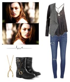 Hayley Marshall - the originals by shadyannon on Polyvore featuring Free People, Paige Denim and Borger Shoes