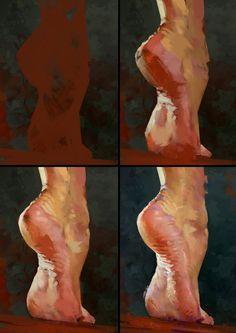 Foot Study Process by AaronGriffinArt.deviantart.com on @DeviantArt