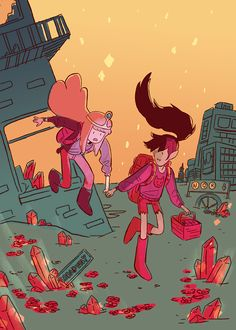 Image about adventure time in Bubbline by Shiemi-lee Adventure Time Wallpaper, Adventure Time Anime, Adventure Time Theories, Adventure Time Princesses, Princesse Chewing-gum, Abenteuerzeit Mit Finn Und Jake, Character Art, Character Design, Adveture Time