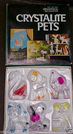 CRYSTALITE PETS~1976  OMG!!! My grandma had these and I LOVED playing with them!!!!!!!!