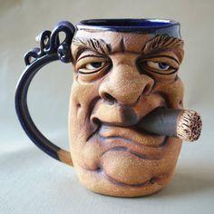 Herksworks Face mug by Herksworks on Etsy, $40.00