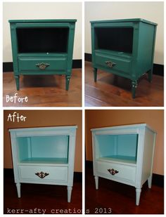 Kerr-afty Creations: Making old, new: nightstand #2