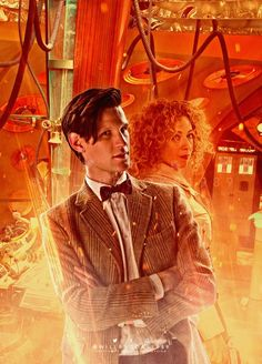 """Will Brooks @willbrooks1989 - """"Here's my artwork for April's #DoctorWho #EleventhDoctor 2.9, with #MattSmith and #AlexKingston! #DrWho #RiverSong"""" ☺♥♥"""