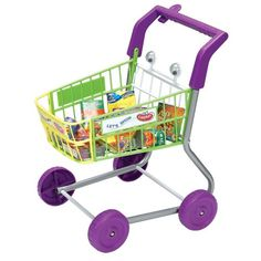$39.99-$20.00 Baby Toy Shopping Cart - Shop till you drop with the Toy Shopping Cart! Now kids can have fun grocery shopping too! The shopping cart features a tubular metal frame a moulded basket with a deposit key in handle fora touch ofrealism as well as wobbly eyes for added fun! This play shopping cartincludes assorted play boxes andfood so kids can choose what to purchase. Assembly requ ...