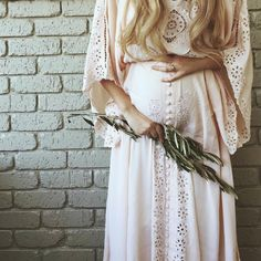 """I Believe In Unicorns - Maxi Dress"" Women's embroidered maxi dress - blush Fillyboo - Boho inspired maternity clothes online, maternity dresses, maternity tops and maternity jeans."