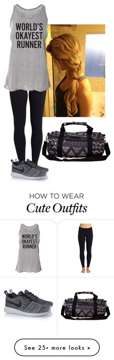 """Workout Outfit"" by laceyleanne18 on Polyvore featuring Beyond Yoga, NIKE, Billabong, women's clothing, women's fashion, women, female, woman, misses and juniors"