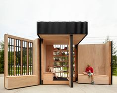 Lending Libraries Expandable Lending Libraries - This Pop-Up Library Kiosk Opens Up to Create a Public Reading Space (GALLERY)Expandable Lending Libraries - This Pop-Up Library Kiosk Opens Up to Create a Public Reading Space (GALLERY) Aarhus, Library Architecture, Architecture Design, Architecture Diagrams, Architecture Portfolio, Pop Up, Lending Library, Open Library, Kiosk Design