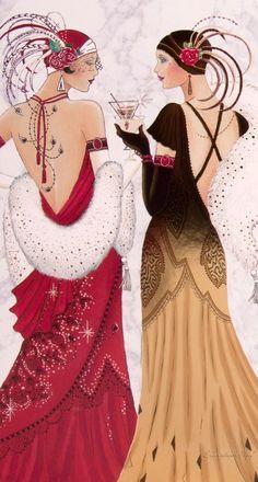Art Deco Lady - Обсуждение на LiveInternet - Российский Сервис ОнРArt Deco Illustration, Illustrations Vintage, Woman Illustration, Art Deco Mode, Moda Art Deco, Moda Vintage, Vintage Mode, Vintage Art, Fashion Art