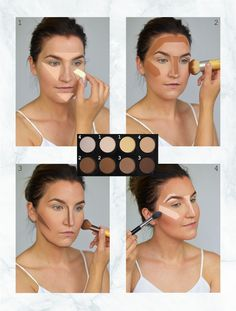 NYX Highlight & Contour Pro Palette -korostus- ja varjostuspaletti on lähtenyt . The NYX Highlight & Contour Pro Palette Highlighter & Shadow Palette has gained popularity like a rocket and many of you have requested How To Blend Contouring, Face Contouring, Contouring And Highlighting, How To Contour, Nyx Highlighter, Makeup Dupes, Skin Makeup, Beauty Makeup, Contour Makeup Products