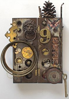 mike bennion    assemblage art - 'No.9'