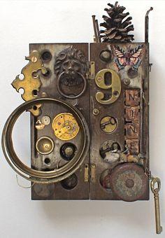 mike bennion    assemblage art - 'No.9'
