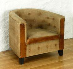 Roadie Chic Leather Tub Chair