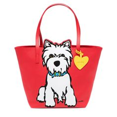 westie (west highland white terrier) - Westie Tote Bag with Heart by Marc  Tetro b0c8c358ebfab