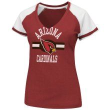 NFL Arizona Cardinals V-Neck Tee, Large - Official NFL T-Shirts and Hoodies at TeeShirtMadness.com