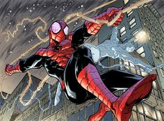 Spider-Man by Humberto Ramos Marvel Comic Books, Marvel Art, Marvel Heroes, Marvel Characters, Comic Books Art, Comic Art, Spiderman Art, Amazing Spiderman, The Superior Spider Man